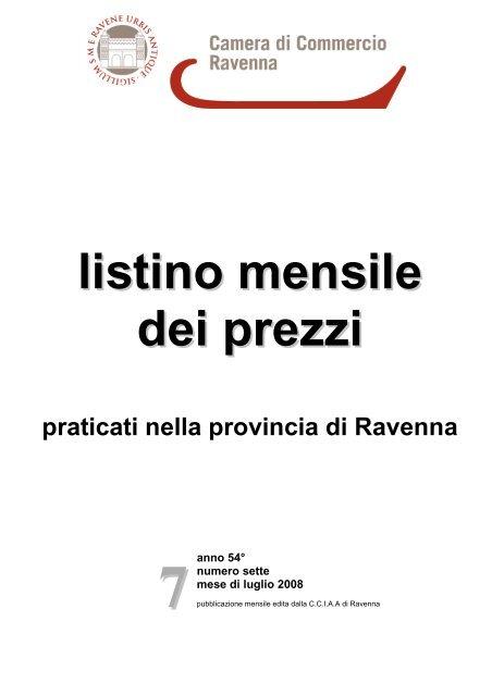 d856b80edf B listino luglio 2008.pdf - Camera di Commercio di Ravenna