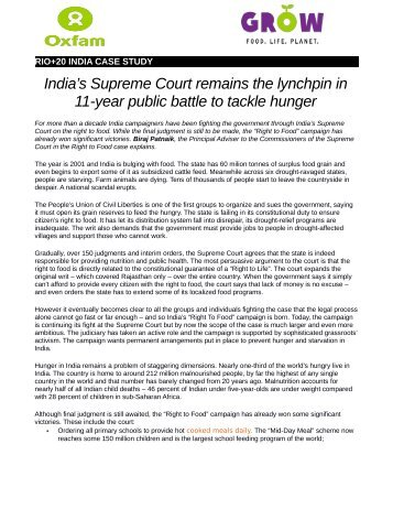 INDIA CASE STUDY