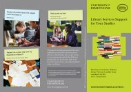 Library Services support leaflet (PDF - 470KB) - University of ...