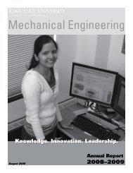 2008-2009 - Mechanical Engineering - Iowa State University