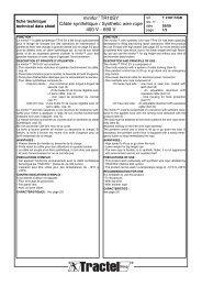 Treuil Minifor™ TR10 à câble synthétique - Tractel
