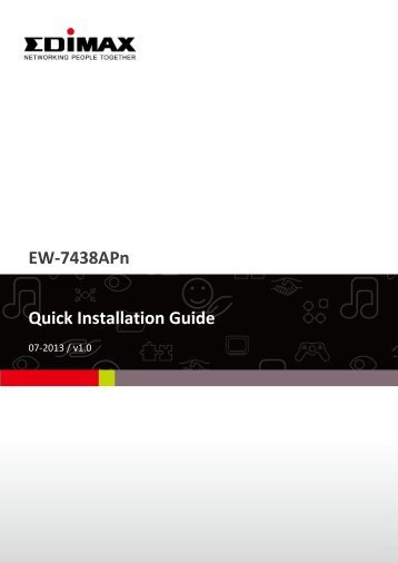 EW-7438APn Quick Installation Guide - Edimax