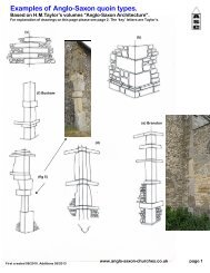 Examples of Anglo-Saxon quoin types. - Anglo-Saxon churches