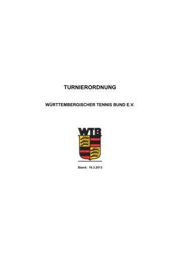 WTB Turnierordnung 2013