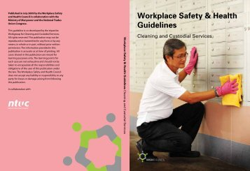 Cleaning and Custodial Services Guidelines - Workplace Safety and ...