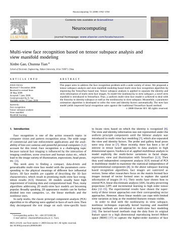 Multi-view face recognition based on tensor subspace analysis and ...
