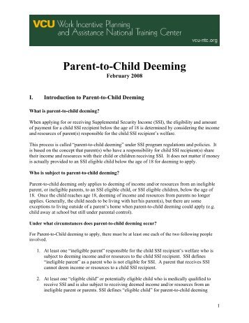 Parent-to-Child Deeming - Worksupport.com