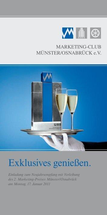 Einladung zum Neujahrsempfang 2011 - Marketingclub Münster ...