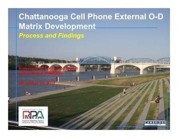 Chattanooga Cell Phone External O-D Matrix Development