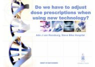 Do we have to adjust dose prescriptions when using new technology?