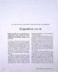 Krigsarkivet 200 år - Visa filer