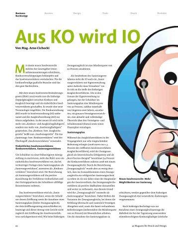Aus KO wird IO - KWR