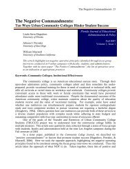 The Negative Commandments: - College of Education - University of ...