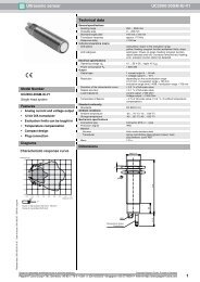 1 Ultrasonic sensor UC2000-30GM-IU-V1 - Elec.ru