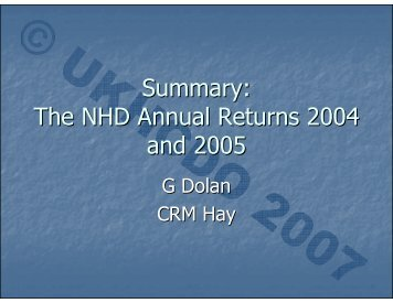 Download the summary presentation in PDF format here - UKHCDO