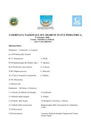 i giornata nazionale sul diabete in età pediatrica - Ufficio Scolastico ...