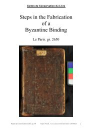 Steps in the Fabrication of a Byzantine Binding - E-Corpus