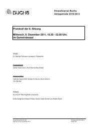 Protokoll 08. Dezember 2011 - Gemeinde Buchs