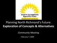 North Richmond Community Meeting - North Richmond Plan