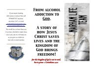 A Story of how God rescued me, by - Marham Life Team