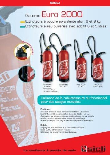 Fiche technique extincteur euro PDF - Enflamstop