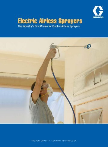 Electric Sprayers Brochure Australia - Graco Inc.