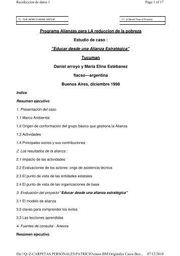 """""""Educar desde una Alianza Estratégica"""" Tucuman - Gestión Social"""