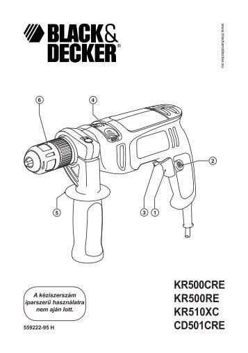 KR500CRE KR500RE KR510XC CD501CRE - Black & Decker