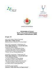 PROGRAMMA UFFICALE - Eventi e sagre
