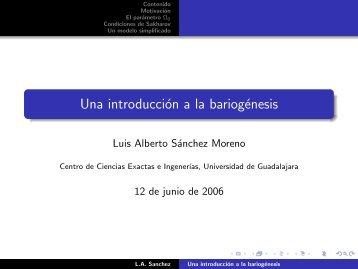 Una introducción a la bariogénesis - Cosmofisica