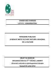 CAHIER DES CHARGES SONO LOT N°2