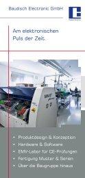 Am elektronischen Puls der Zeit. - Baudisch Electronic GmbH