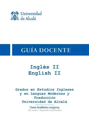 Inglés II English II - Universidad de Alcalá