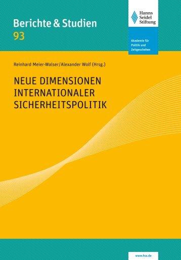 Berichte & Studien 93 - Prof. Dr. Martin Wagener