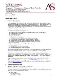 AIS News No 86 - Association of Independent Schools of SA