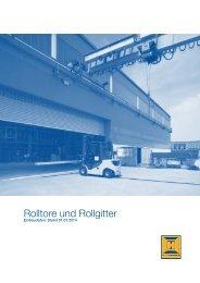 Einbaudaten Rolltore und Rollgitter 2011 - Hörmann