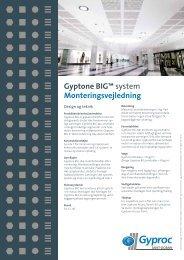 Gyptone BIG™ system Monteringsvejledning