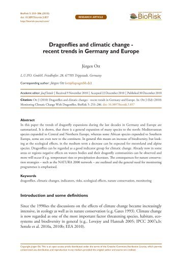recent trends in Germany and Europe - Pensoft Publishers
