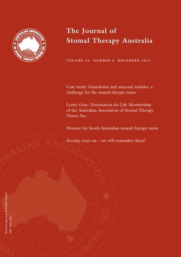 JSTA December 2012 - Australian Association of Stomal Therapy ...