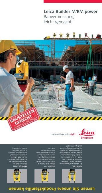 Leica Builder M/RM power Bauvermessung leicht ... - SERTOPO.net