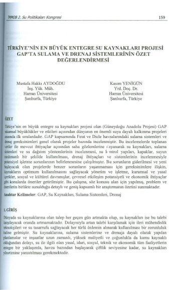 Türkiye'nin En Büyük Entegre Su Kaynakları Projesi GAP'ta Sulama ...