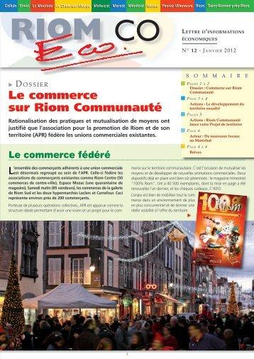 Le commerce sur Riom Communauté