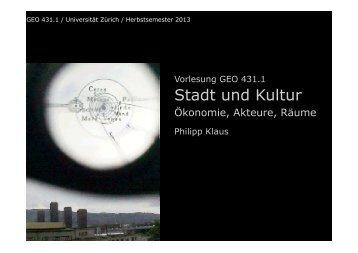 Stadt und Kultur - INURA Zürich Institut