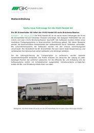 Medienmitteilung Sechs neue Fahrzeuge für die HIAG Handel AG
