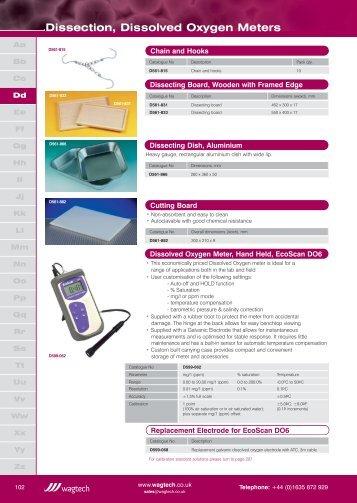 Dissolved Oxygen Meters - Wagtech Projects Ltd