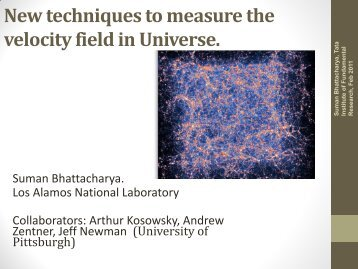 New Techniques to Measure Velocities in Our Universe