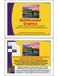 Multithreaded Graphics - Custom Training Courses - Coreservlets.com