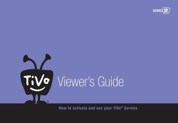 TiVo Series2 DVR Viewers Guide (2003) - TOC