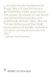 Es geht um die fundamentale Frage: 'Bin ich vom ... - Universität Wien
