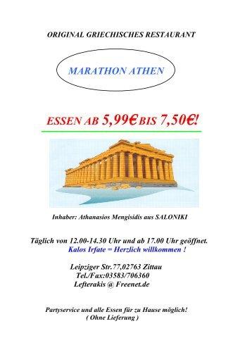 original griechisches restaurant marathon athen essen ab 5,99